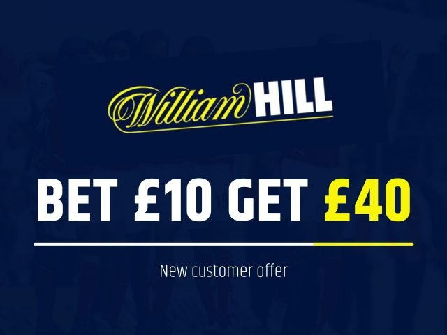 William Hill Bet £10, Get £40 Free Bets